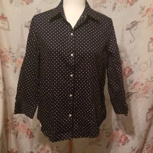Chaps No Iron Button Down Shirt Size L